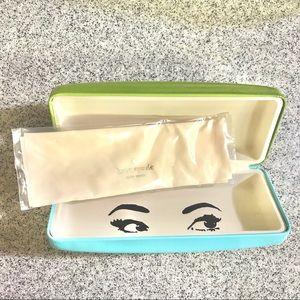 50% off Kate Spade Blue/Green Sunglass Case